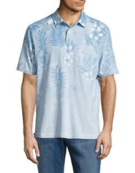 Tommy Bahama Floral Fade Polo Baniff Blue
