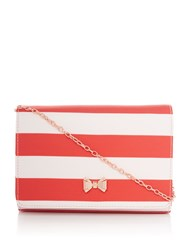 Ted Baker Stripey Evening Bag Light Pink