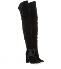 Gianvito Rossi Over The Knee Velvet Boots Black
