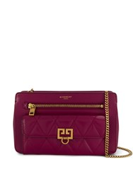 Givenchy Pocket Quilted Media Bag Purple