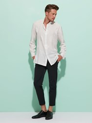 Shanghai Tang Double Happiness Silk Shirt Off White