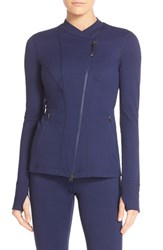 Zella Women's 'Resilience' Double Breasted Jacket Navy Peacoat