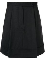 Sara Battaglia Pleated Skirt Black