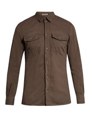 Bottega Veneta Patch Pocket Cotton Shirt Grey