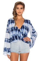 Blue Life Tie Dye Hayley Top Blue