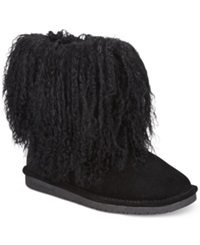 Bearpaw Boo Cold Weather Booties Women's Shoes Black Lamb
