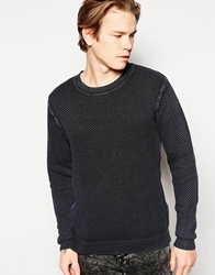 Cheap Monday Crew Jumper Tap Texture Knit Black