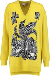 Emilio Pucci Intarsia Wool And Cashmere Blend Sweater Yellow