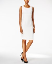 Kasper Crepe Sheath Dress Vanilla