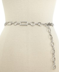 Style And Co. Rectangles And Circles Chain Belt Silver