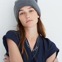 Madewell After Midnight Necklace Set Gold Ox