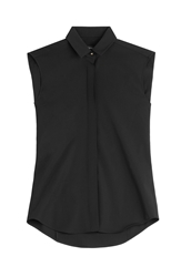 Anthony Vaccarello Virgin Wool Sleeveless Shirt