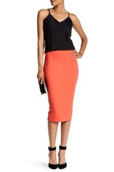 Vince Camuto Tux Ponte Skirt Orange