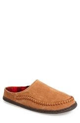 Staheekum 'Lodge Flannel' Suede Slipper Men Wheat