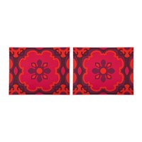 Images D'orient Set Of 2 Rectangular Placemats Sejjadeh Ruby