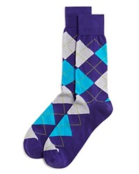 Bloomingdale's The Men's Store At Argyle Cotton Blend Dress Socks Medium Purple