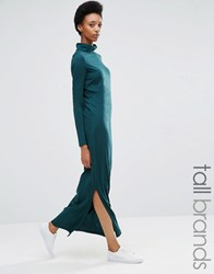 Noisy May Tall High Neck Jersey Maxi Dress Green