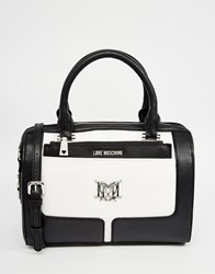Love Moschino Retro Style Barrel Bag Black