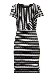 Betty Barclay Graphic Striped Dress White