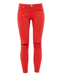 Ted Baker Swansa Ripped Skinny Jeans Red