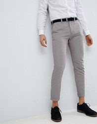 Pull And Bear Pullandbear Tailored Skinny In Check Beige