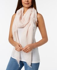 Betsey Johnson Shimmer Stripe Day Scarf And Wrap Rose Gold