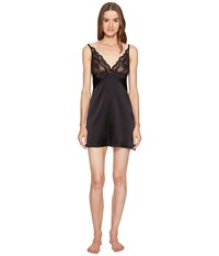 Else Lily Soft Cup Silk Chemise Slip Black Women's Pajama