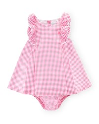 Ralph Lauren Childrenswear Sleeveless Double Face Gingham Shift Dress W Bloomers Pink Size 9 24 Months Girl's Size 24 Months Pink Multi