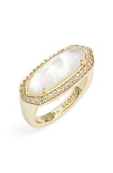 Women's Kendra Scott 'Arielle' Ring Ivory Mother Of Pearl Gold