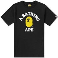 A Bathing Ape Colours College Tee Black