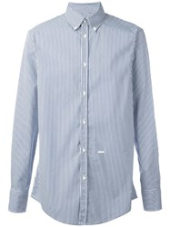 Dsquared2 Pinstripe Shirt Blue
