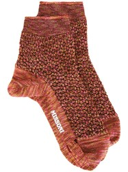 Missoni Knitted Socks Yellow Orange