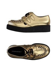 Underground Lace Up Shoes Gold