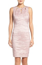 Eliza J Women's Embellished Cutout Taffeta Sheath Dress Mauve