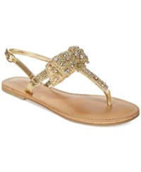 Dolce By Mojo Moxy Sienna Rhinestone Bow Flat Thong Sandals Women's Shoes
