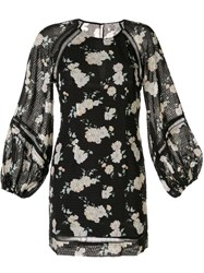 We Are Kindred Mia Floral Print Dress Black