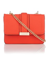 Juno Orange Fold Over Cross Body Bag Orange