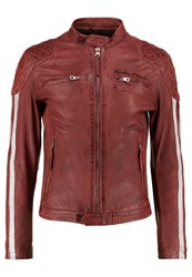 Redskins Rivas Rocho Leather Jacket Red