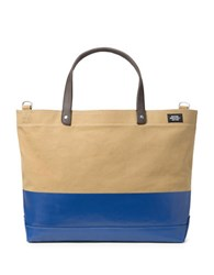 Jack Spade Dipped Industrial Colorblocked Tote Bag0320 Nyru0058 Khaki Blue