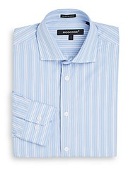 Bogosse Slim Fit Multi Stripe Dress Shirt White