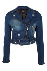Need For Speed Cropped Biker Jacket By Goldie Blue