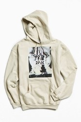 Urban Outfitters 2Pac Glitch Photo Hoodie Sweatshirt Tan