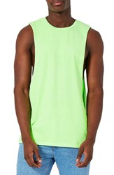 Topman Men's Neon Tank Green