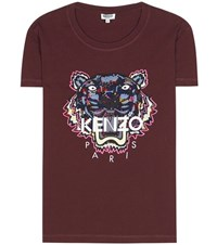 Kenzo Embroidered Cotton T Shirt