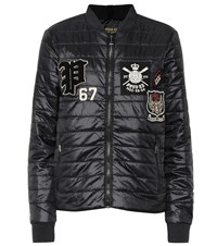 Polo Ralph Lauren Appliqued Quilted Jacket Black