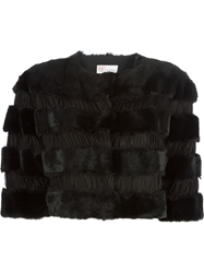 Red Valentino Cropped Jacket Black