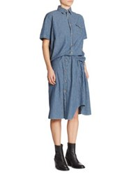 Junya Watanabe Twisted Button Front Shirtdress Indigo