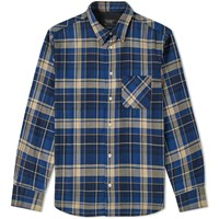 Rag And Bone Check Overshirt Blue