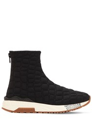 Versace Quilted Nylon Padded Sock Sneakers Black