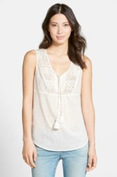 Caslon Lace Bib Boho Tank Orange